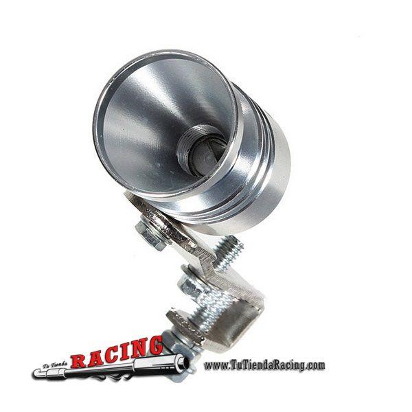 Turbo Falso Silbador para Extremo de Escape Fake Turbo Válvula Blow Off Color Plateado -- 5,22€