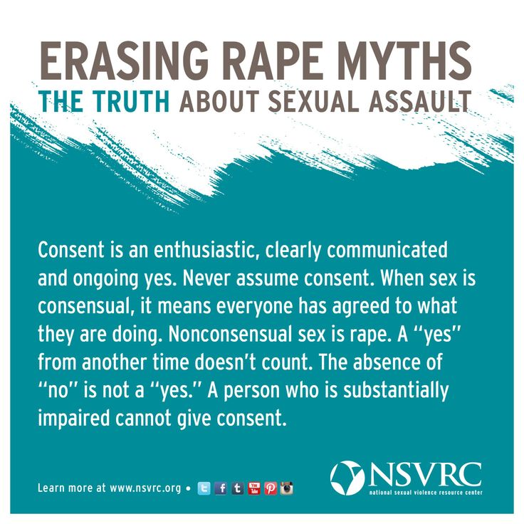 What is consent? The National Sexual Violence Resource Center has tons of information on the topic for survivors, advocates, community members and policy makers.