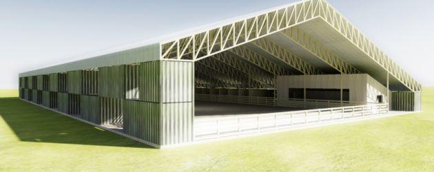 Les 25 meilleures id es de la cat gorie centre equestre for Architecture modulaire definition