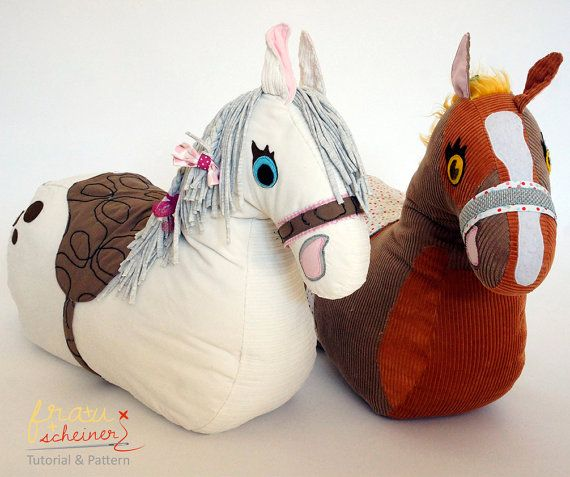 Rocket plush horse pattern and sewing instruction by frauscheiner