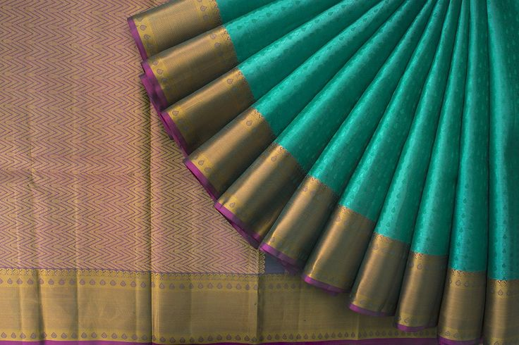 Handwoven Kanjivaram Threadwork Silk Sari with Maanga 1026369 - Saris / All Saris - Parisera