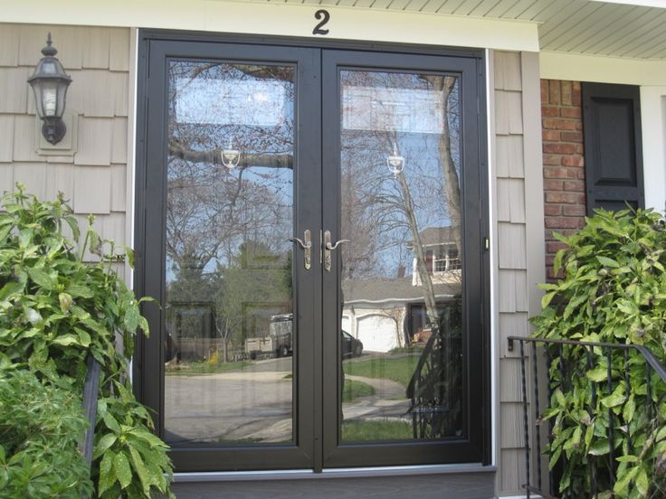 Best 25 storm doors ideas on pinterest front screen for Storm doors for double entry doors