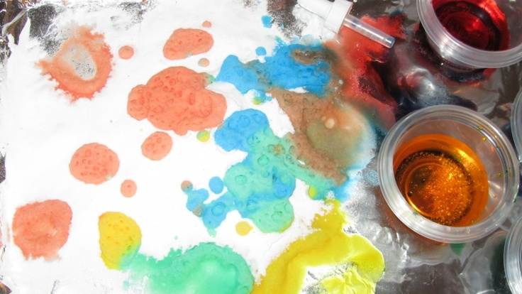 Baking Soda Vinegar And Food Coloring Ideas