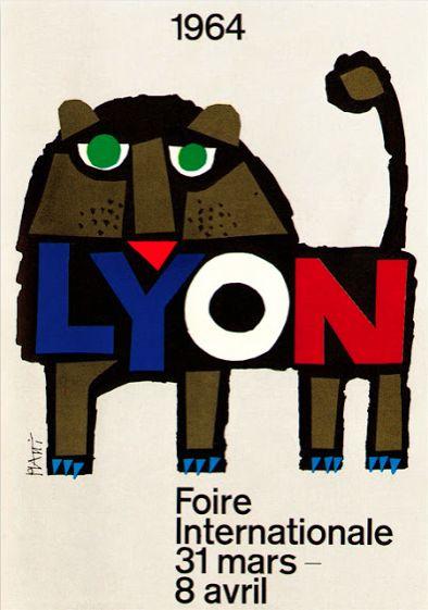 Poster by Celestino Piatti (1922-2007), 1964, Foire Internationale de Lyon. (S)