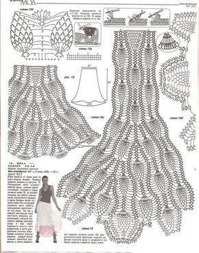 Uncinetto d'oro: La gonna lunga elegante e raffinata!