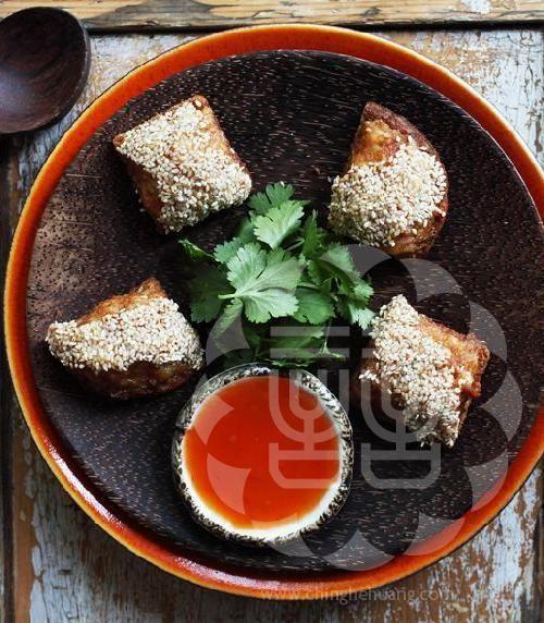 Sesame Prawn Toast - Ching-He Huang Chinese Cooking