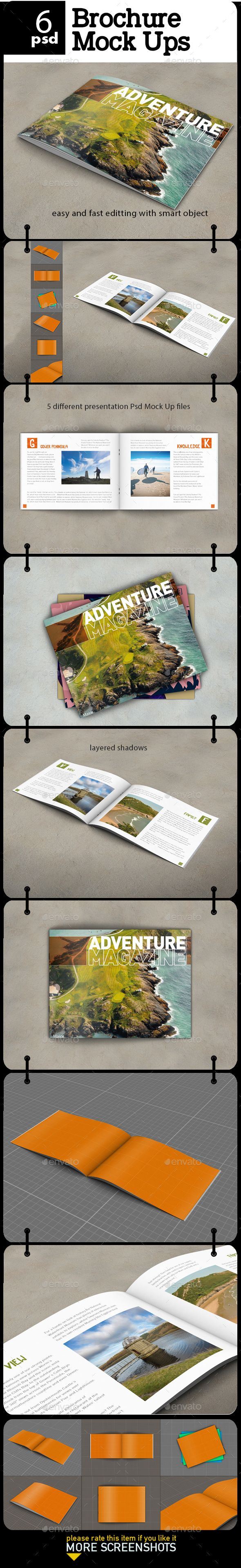 Brochure - Magazine Mock Up - Product Mock-Ups Graphics