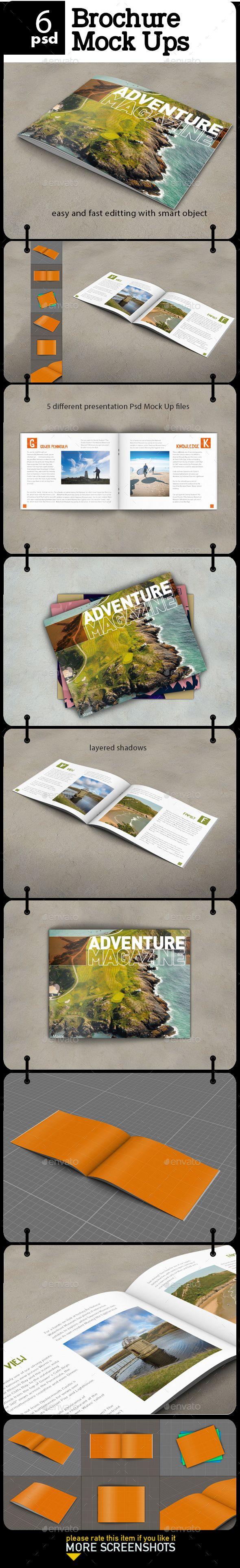 Brochure - Magazine Mock Up - Product Mock-Ups Graphics