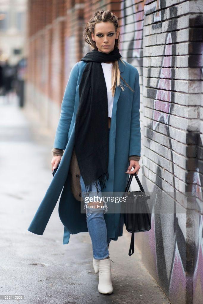 7a80c55fec Hannah Ferguson seen after the Max Mara show during Milan Fashion Week Fall  Winter 2018 19 on February 22