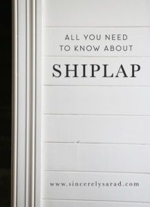 Good article about shiplap with great ideas.