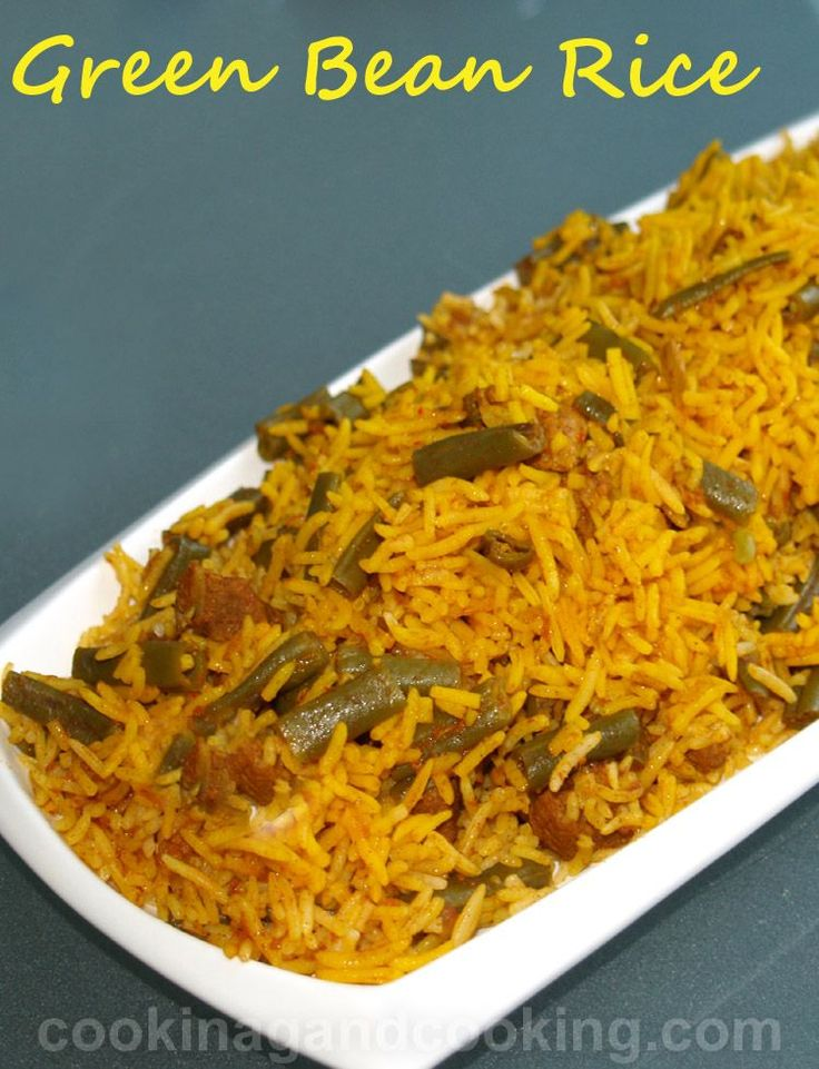 Lubia-Polo,-Persian-Green-Bean-Rice