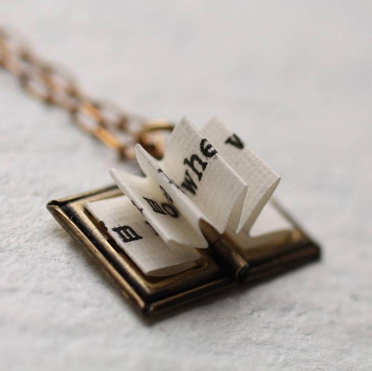 Book Locket ... Secret Message Personalised Book Lover's Gift by SilkPurseSowsEar on Etsy https://www.etsy.com/uk/listing/506274994/book-locket-secret-message-personalised