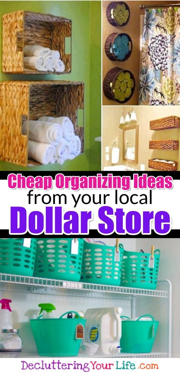 Awesome Dollar Store & Dollar Tree Organization Hacks for Organizing Your Home on a Budget in…