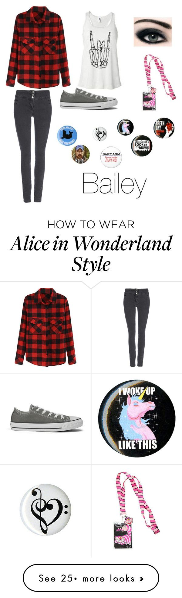 """Bailey"" by thebunnywarrior on Polyvore featuring Wallis, Converse and Disney"