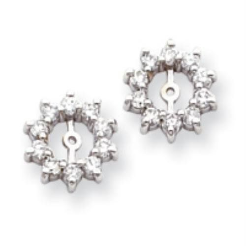 14k White Gold AA Diamond Earring Jackets Real Goldia Designer Perfect Jewelry Gift for Christmas goldia. $883.31