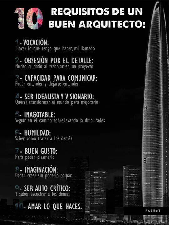 10 requisitos de un buen arquitecto Estudio Arquitectura Marina MArti Sitges (Barcelona)