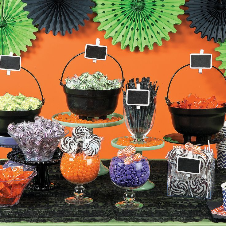 Cauldron Halloween Candy Buffet Idea - OrientalTrading.com