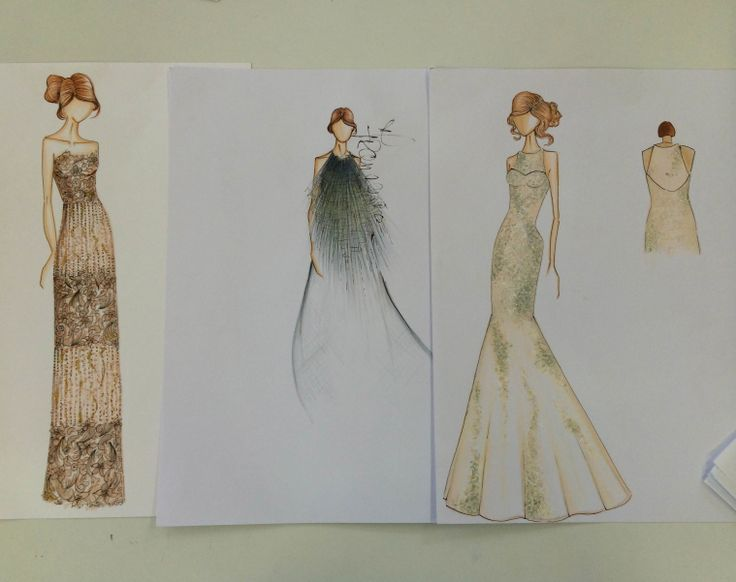 Francesca Miranda - #Sketches #Dresses #WeddingDresses #Nightout // #Bocetos #VestidosdeNoche #Matrimonio #Vestidos