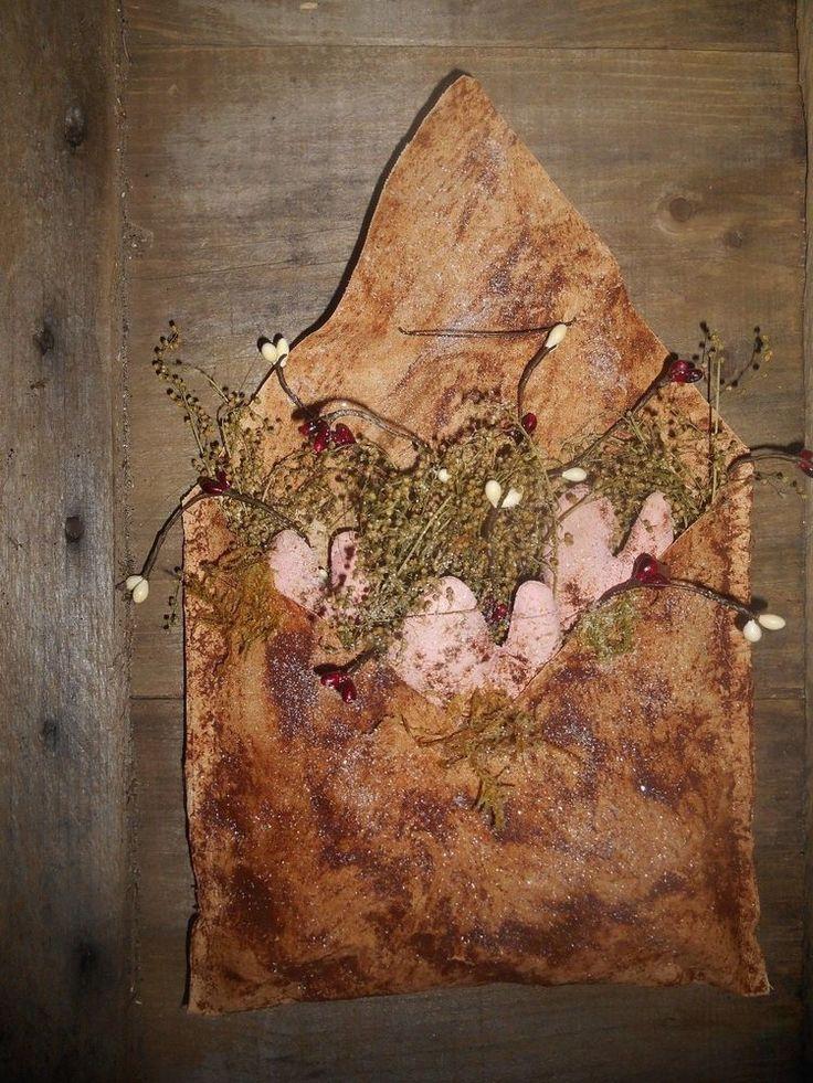 Primitive Grungy Love Letter Envelope Hanger Valentine ...