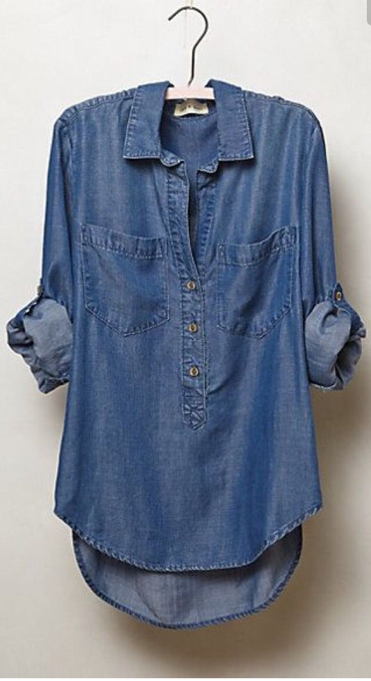 Love this denim top. Stitch fix inspiration. Try stitch fix :) personal styling…