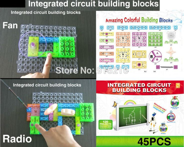 120 ProjectsDIY kit sirkuit terpadu blok bangunan jepret sirkuit kit, Fm Radio percobaan anak-anak model kit, Ilmu mainan anak-anak