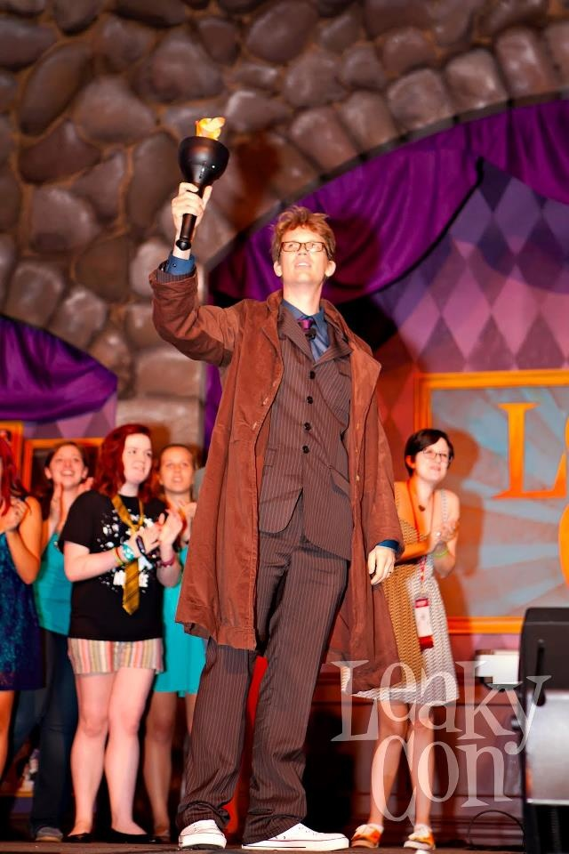 Hank Green as the tenth Doctor at the 2012 opening ceremonies-LeakyCon. So many kinds of awesome.