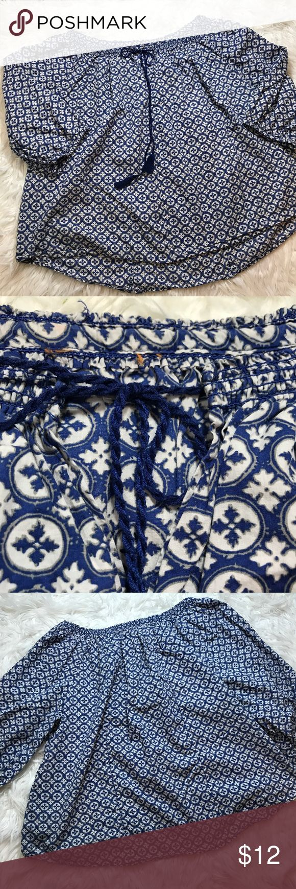 Boho Top Light wear only flaw is my daughter cit the tags off. Priced to sell. Purchased at Lucky Brand Outlet Lucky Brand Tops Tunics
