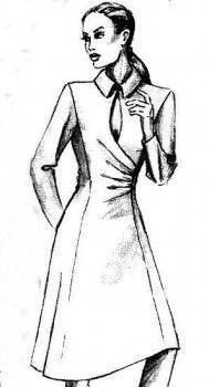 Моделирование платья с драпировкой по талии