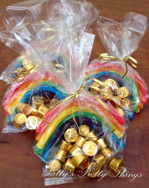St. Patty's rainbows and gold!!!!  mmmmmmmmmmm