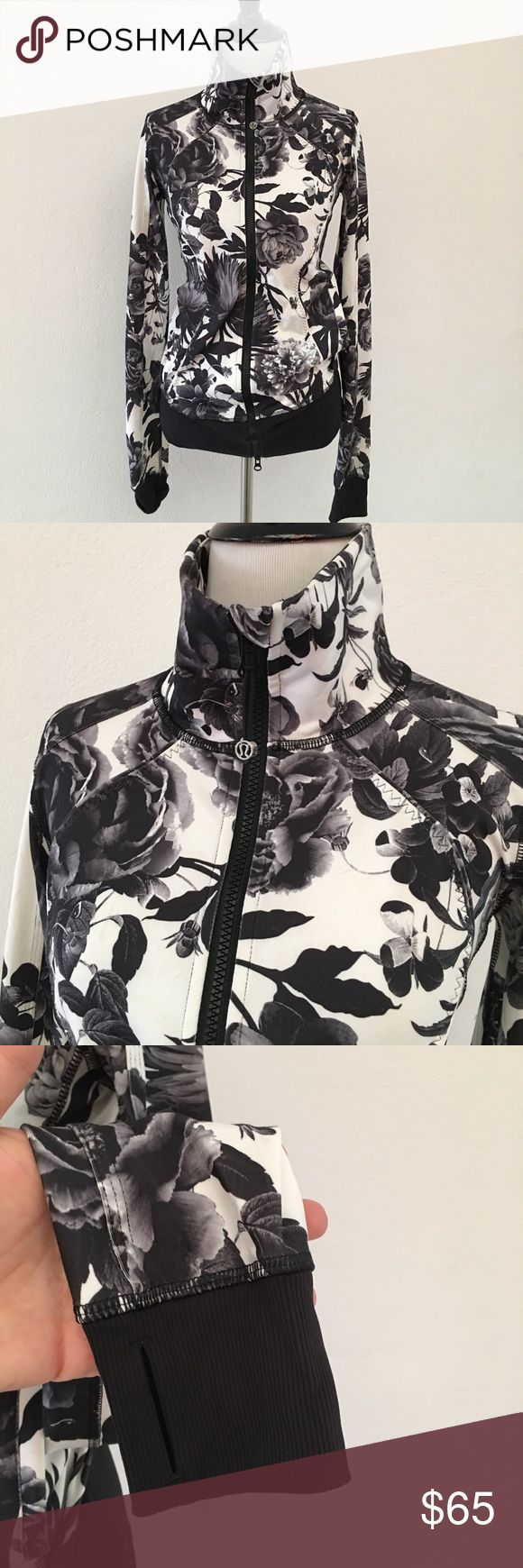 Lululemon Calm & Cozy Brisk Bloom Jacket size 4 Preowned authentic Lululemon Calm & Cozy Brisk Bloom Jacket size 4. Has thumbholes. Please look at pictures for better reference. Happy shopping! lululemon athletica Jackets & Coats