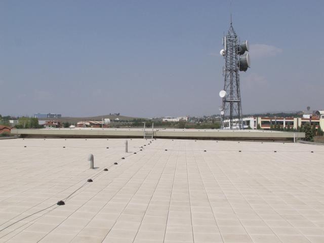 Vodafone Κεντρικά γραφεία Θεσσαλονίκης -Στεγανοποίηση δώματος κεντρικού κτιρίου (1995)