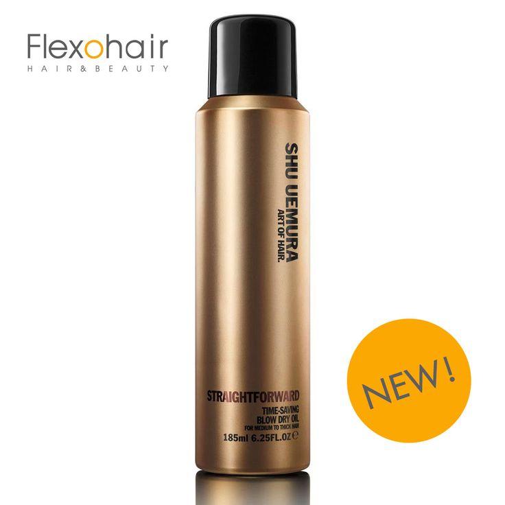 Brand new & very hot! :-) Shu Uemura Straightforward Föhnspray  Best-Price at flexohair.eu