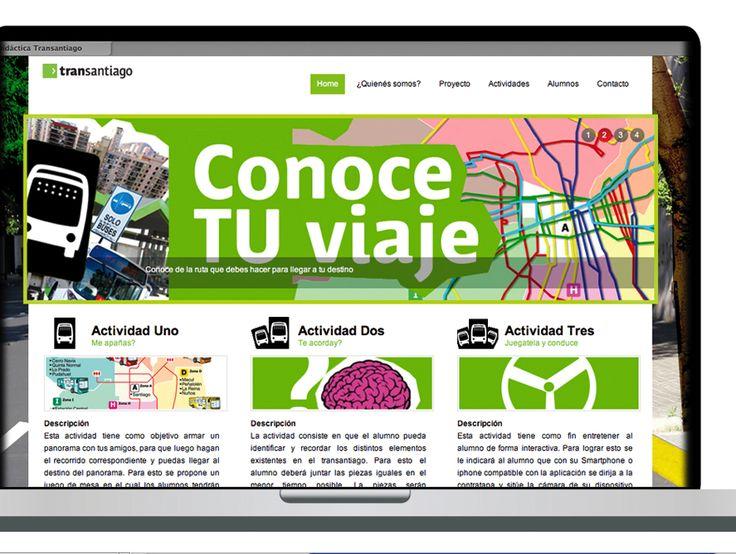 diseño website guía didáctica transantiago