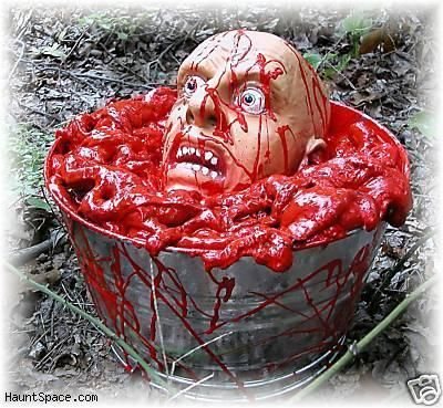 another Halloween butcher shoppe bucket of gore