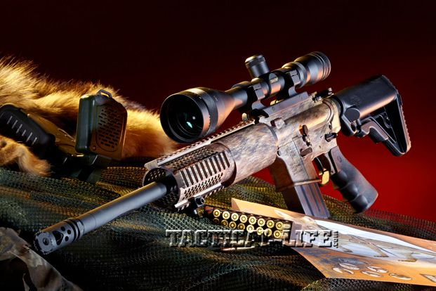 The Rock River Arms LAR-15 Hunter is a carbine-sized, AR-15-style rifle chambered in 5.56mm NATO.