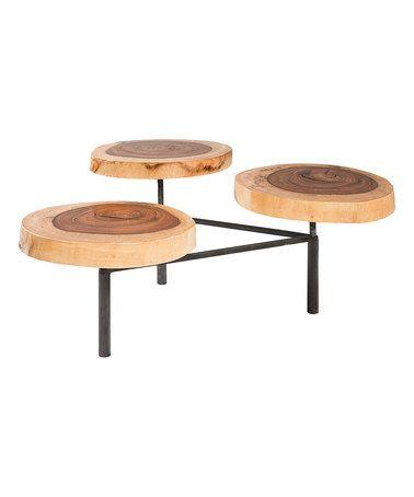 Look at this #zulilyfind! Tree Trunk Coffee Table #zulilyfinds