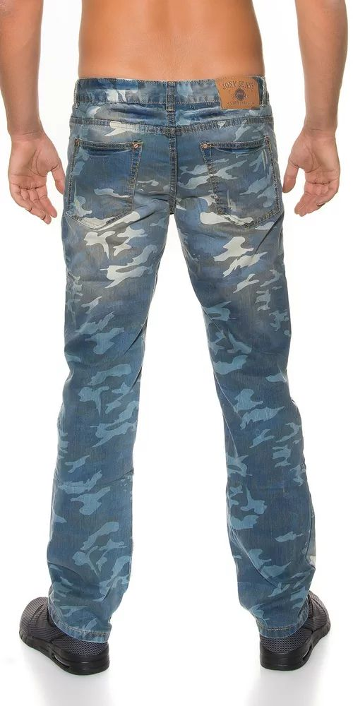 Pánské džíny army look
