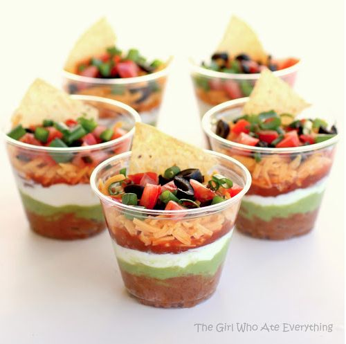 @Amazing Avocado #CincoAvocados Cinco de Mayo appetizer - individual seven-layer dip cups @Amazing Avocado    #CincoAvocados