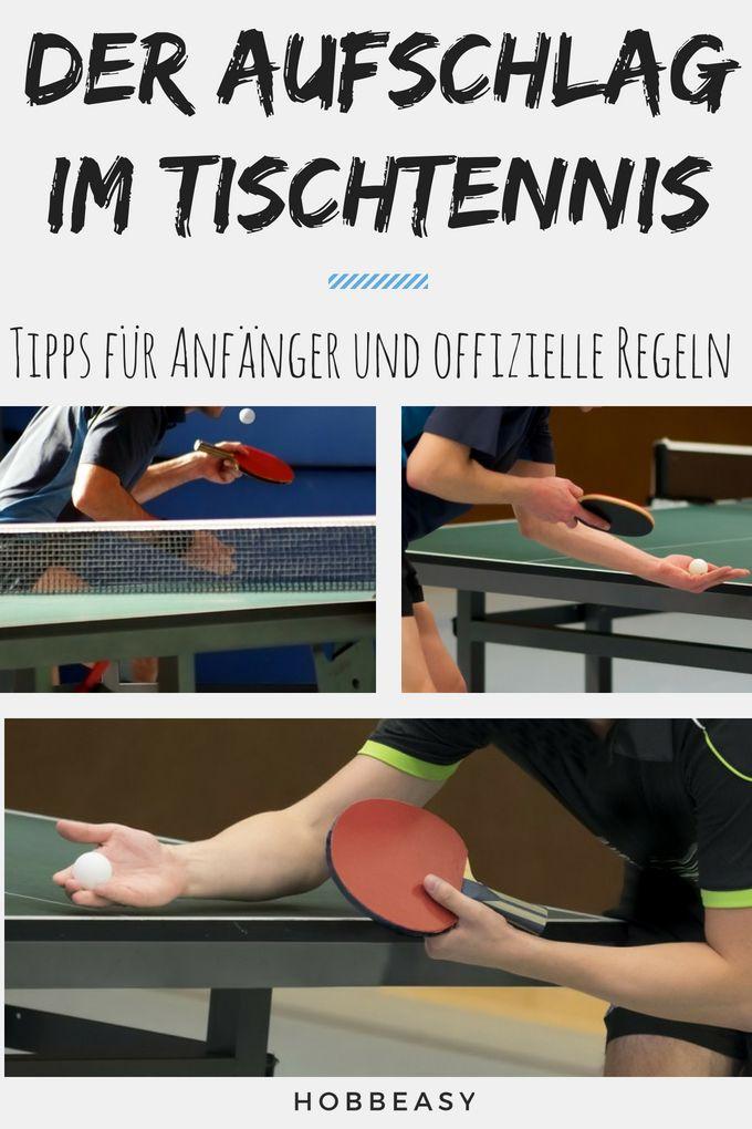 Tischtennis Aufschlag