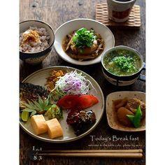 Japanese Food / 塩鯖・豚じゃが・大根のキノコ餡かけ・鶏スープ