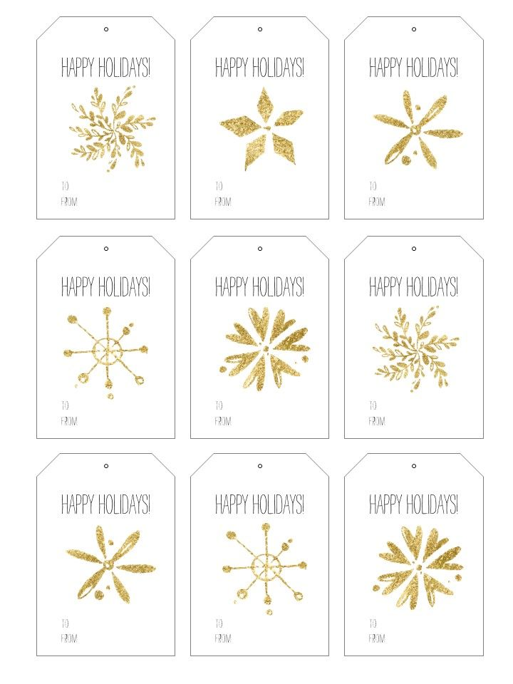 Free Printable Holiday Gift Tags | tags | Pinterest | Holiday gift ...