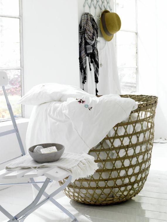 Korb Aus Bambus Von Tine K Home In 2020 Korb Bambus Und Waschekorb