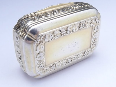 "GEORGE-III-SILVER-GILT-SNUFF-BOX-LONDON-1814 The makers mark is ""T.P R.M"" Thomas Pemberton & Robert Mitchell, who worked in partnership from 1813-1819."
