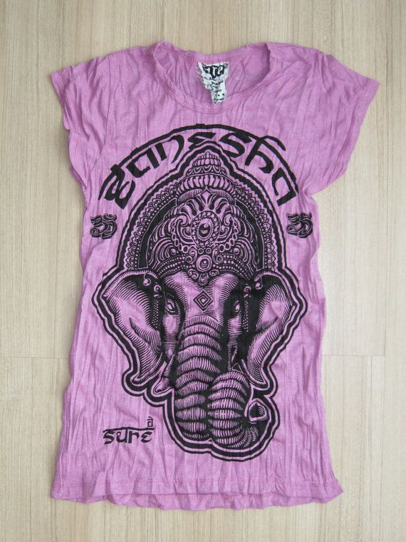 Women's size S Cute Yoga Outfit Tee Ganesha Buddha by letshugitout, $12.49