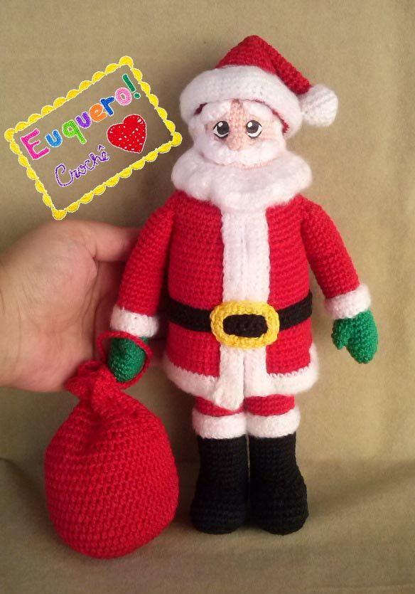 Santa claus - Papai Noel feito Luxo em crochê