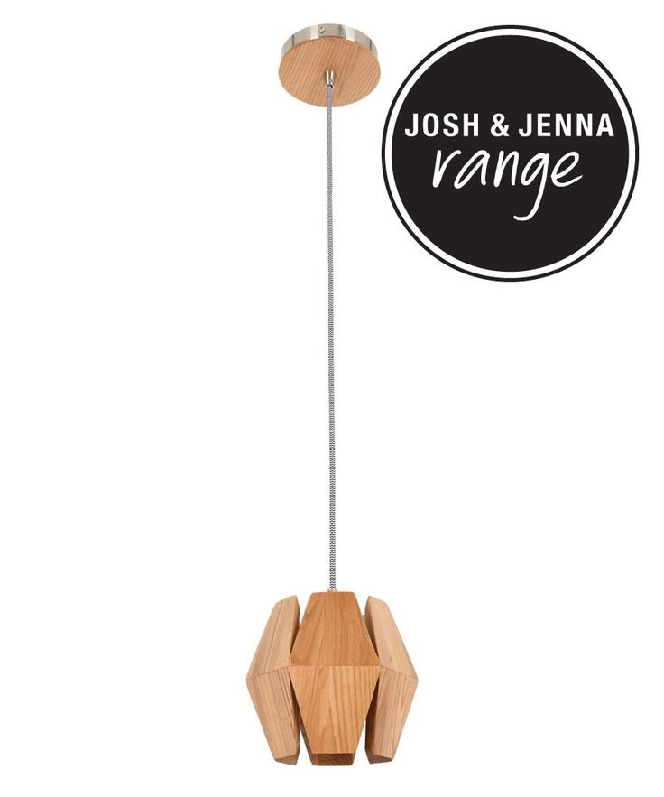 Beacon Lighting - Ragnar 1 light small pendant in ash timber