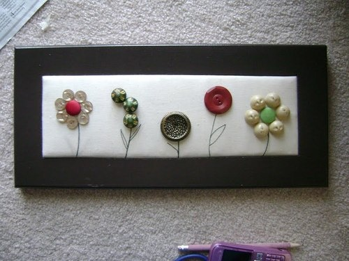 flowers: Buttons Galor, Crafts Ideas, Buttons Crafts, Buttons Flowers, Fine Houses, Artworks Pictures, Crafts Projects, Bookmarks Pictures, Buttons Artworks