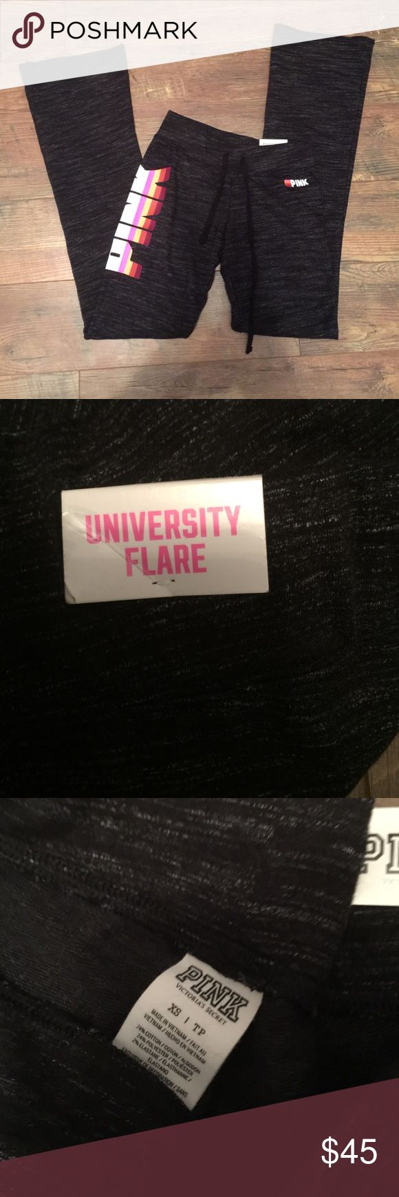 Pink university flare !! Brand new University flare xs ... with tag PINK Victoria's Secret Pants Boot Cut & Flare