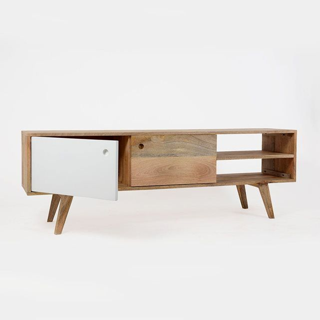 Best 10 meuble tv bois ideas on pinterest table tv console tv d coration - Meuble tv vintage scandinave ...