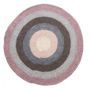 Beautiful Wundersch ner H kel Kinderteppich rund Pastell Lila Baumwolle cm von